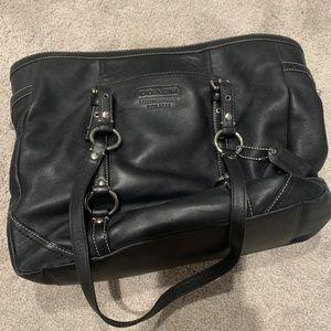 Coach black bucket handbag purse